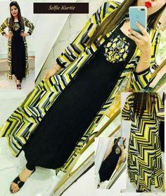 Raxa Selfie Digital Printed Kurti For Women Kurtis Tops, Salwar Pattern, Ethnic Gown, Cute Princess, Printed Kurti, Abaya Fashion, Embroidery Dress, Designer Dresses, Pattern Design