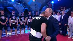 Putin Visit to Combat Sambo Tournament: Plotforma S-70 in Sochi