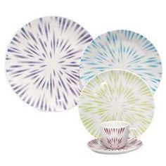 Aparelho de Jantar, Chá e Sobremesa Oxford Porcelanas Dust Karim Rashid EM30 4622 - 30 Peças