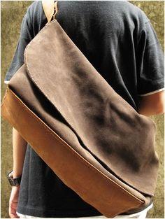 bottom handmade leather messenger bag