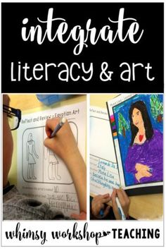 Using easy no prep art projects to promote literacy practice in primary (free lessons and writing activities)