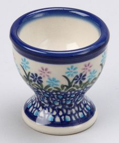 Take a look at this Blue & Lavender Floral Egg Cup by Lidia's Polish Pottery on #zulily today!