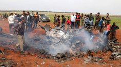 Rebellen halen Syrisch militair vliegtuig neer   NOS