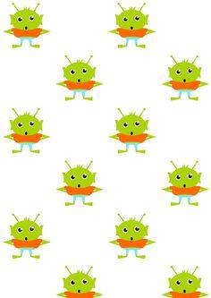 FREE printable kids pattern paper | #cutemonsters
