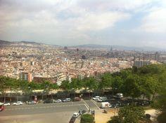 Skyline Barcelona vanaf Montjuïc