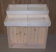 Wooden Country Store Floor Display, Wood Crate Display, Wood Stand Half Barn Display!