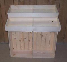 Wooden Country Store Floor Display, Wood Crate Display, Wood Stand Half Barn Display!