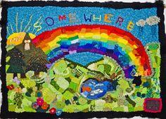 Somewhere Over the Rainbow freeform crochet art by Zoey Daws Freeform Crochet, Crochet Art, Love Crochet, Irish Crochet, Crochet Designs, Crochet Patterns, Crochet Ideas, Rainbow Crochet, Over The Rainbow