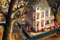 """Illustration by Charlotte Dematons from the book """"Sinterklaas"""" Christmas In Holland, Good Old, Illustration Art, Book Illustrations, Childrens Books, Animation, Drawings, Pictures, Painting"""