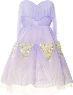 DELPOZO Purple Sweetheart Party Dress - Lyst