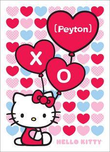 Heart Balloon Hello Kitty Valentine's Day card