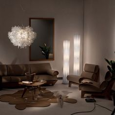 Fiorella Suspension and Bach Floor Lamp by Slamp Contemporary Floor Lamps, Modern Floor Lamps, Contemporary Design, Design Shop, Standing Table, White Floor Lamp, Flooring, Interior Design, Home Decor
