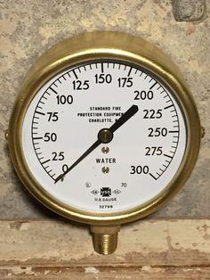 Vintage 1970 US GAUGE NY Pressure Gauge, Brass, Steam, Steampunk Antique Water
