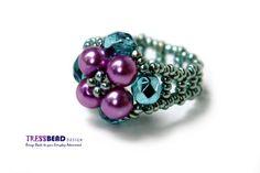 Anillo de abalorios perla libre metal 0031 por tressbead en Etsy, $18.80