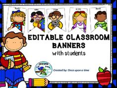 "Editable printable pages for your classroom banner.  The file contains flags with colored student faces. Just open the file, click in the ""Name"", write your students names and print. Have fun!!!  If you liked it, please give a rate. Thank you for your time !!!"