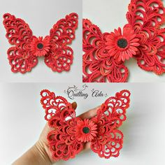 Quilling animals for kids Quilling Butterfly, Butterfly Wall Art, Quilling Paper Craft, Quilling Patterns, Quilling Designs, Paper Quilling, Paper Crafts, Quilling Ideas, Clear Acrylic Sheet