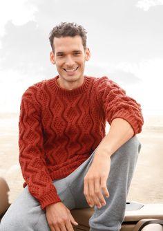 Kein Winter ohne wärmenden Pullover! Deshalb gibt es auch Rebecca-Modelle für Herren. Der beliebte Strickklassiker mit einem plastischen Rhombenmuster darf dabei natürlich nicht fehlen! Der Strickpullover hat einen klassischen...