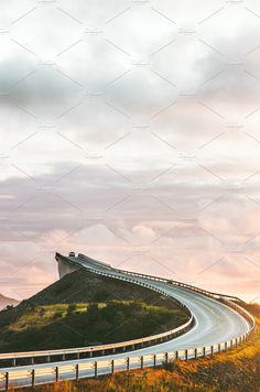 Atlantic road in Norway by e v e r s t on @creativemarket