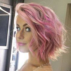 Last looks before showtime! ✨✨ Pretty in Pink color by #901artist @ambahhh for our dancing @juleshough If you haven't already read her article at www.juliannehough.com on pastel hair, head over to @beautycoach_com now to peep the details spilled by our very own @riawnacapri! #ninezeroone #901girl