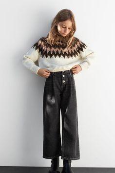 ZARA - KIDS - HOODED JACQUARD KNIT SWEATER Baby Outfits, Little Girl Outfits, Kids Outfits Girls, Zara Outfit, Kids Winter Fashion, Fashion Kids, Zara Fashion, Fashion Pants, Trousers For Girls