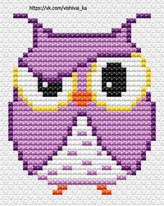 Cross Stitch Owl, Cross Stitch Pattern Maker, Free Cross Stitch Charts, Cross Stitch Animals, Cross Stitch Designs, Cross Stitching, Cross Stitch Embroidery, Cross Stitch Patterns, Loom Patterns