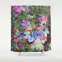 Colorful Flowertime Shower Curtain