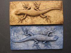 Skinny Lizard Colorful 3d Wallsculpture Art Gift by SculptureGeek