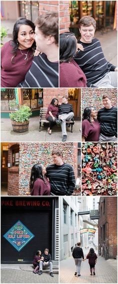 Pike Place Market Engagement Session - Post Alley - Eva Rieb Photography