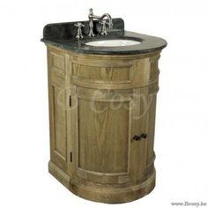 """PR Interiors Toledo ronde enkele Wastafel in smoked oak-eik Landelijk badkamermeubel 55<span style=""""font-size: 0.01pt;""""> PR-Rogiers-Home-Interiors-CRW/473/26 badkamerkast-onderkast-wastafelkast-met-lavabos-cabinet-armoire-armoires-d </span>"""