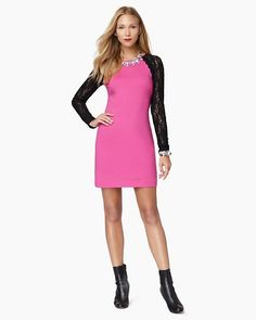 Ponte & Lace Dress  - Juicy Couture  pink or black <3
