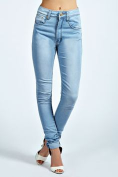 Heather High Rise Super Skinny Denim Jeans