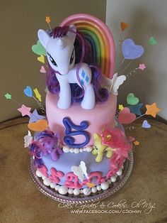 My Little Pony Cake  Isabelle would love this :)