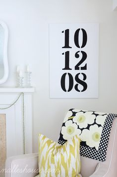 Bedroom Wall Decor Ideas - Really Awe Inpsiring tips to organize a great cozy master bedroom wall decor ideas diy . This eye candy image generated on this imaginative moment 20181215 , decor trick ref 2767665314 Diy Wand, Funky Junk, Wedding Date Art, Diy Wedding, Decor Wedding, Wedding Decorations, Diy Wall Art, Wall Decor, Mur Diy