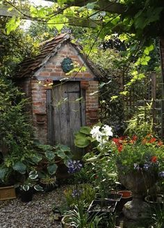 English cottage gardening shed - would look good in miniature inside a cigar box, built up in layers. Description from pinterest.com. I searched for this on bing.com/images