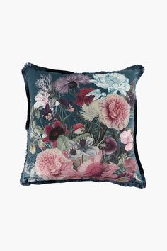This stunning, feather filled scatter with a floral design will add a feminine feel to your decorating style. Designed with a velvet finish, it has a feath Cushions, Decor, Decor Styles, Scatter Cushions, Floral Design, My Design, Fabric, Throw Pillows