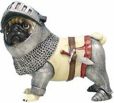 Pugnacious Protector Pug Figurine