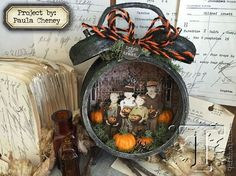 Love this Halloween themed alarm clock! ~ 2016 halloween inspiration series… project by: paula cheney