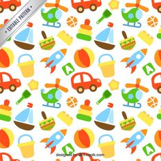 Colored toys pattern