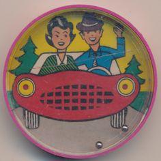 Paar im Auto, Plastik, 50mm