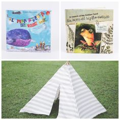 #PlanChiva Sábado de tarde con los tíos :)  Libros de Pachanga Kids en el teepee de CO.SER elcajoncito.com