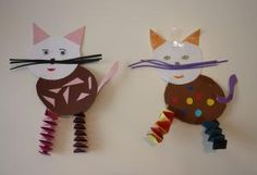 cats from witches stairs Paper Crafts For Kids, Crafts To Do, Diy For Kids, Arts And Crafts, Insect Crafts, Epic Kids, Cat Cards, Creative Kids, Flower Crafts