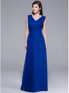 Evening Dresses - $157.99 - A-Line/Princess V-neck Floor-Length Chiffon Evening Dress With Ruffle Lace  http://www.dressfirst.com/A-Line-Princess-V-Neck-Floor-Length-Chiffon-Evening-Dress-With-Ruffle-Lace-017026203-g26203