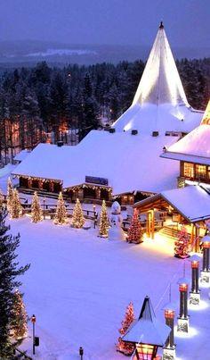 Santa Claus Village in Rovaniemi, Finland