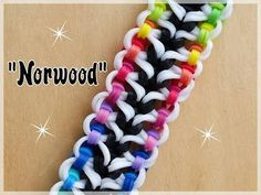 Bracelet, How to make a ladder bracelet with the fun loom, How to make Tulip Rainbow Loom Bracelet Rainbow Loom Bracelets Easy, Loom Band Bracelets, Rainbow Loom Tutorials, Rainbow Loom Patterns, Rainbow Loom Creations, Rainbow Loom Bands, Rainbow Loom Charms, Rubber Band Bracelet, Rainbow Loom Animals
