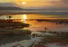 Sharing The World Together: Artist Ivars Jansons Watercolor Landscape, Abstract Landscape, Watercolor Paintings, Seascape Paintings, Landscape Paintings, Australian Painters, Am Meer, Scenery, Fine Art