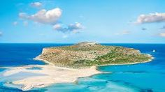 Gramvusa, a small island with an impregnable castle. Famous for its unique lagoon, with its blue green waters, it pink sandy beach and famous shells Crete Island Greece, Location Map, Archaeological Site, Small Island, Castle, Landscape, Beach, Water, Outdoor