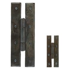 Blacksmith Beeswax H Hinges - These H hinges are made from forged iron. They are a high quality product, with a beeswax finish and hand forged using traditional English blacksmithing methods.