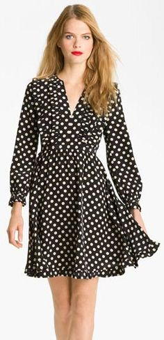 Put a jacket on it for work: Spotted fit and flare dress // kate spade Dress for Work PattyonSite™