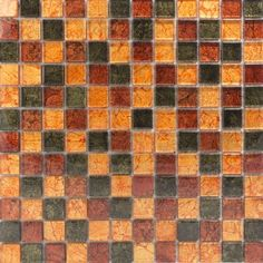 Hong Kong Red Mix Glass Mosaic 23x23 featuring both red and orange - orange being an 'in' colour for 2015  £66.56 psm