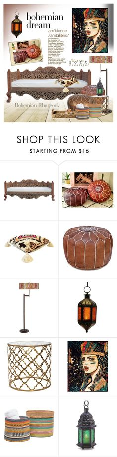 """Bohemian Dream: Moroccan Decor"" by fashionlibra84 ❤ liked on Polyvore featuring interior, interiors, interior design, home, home decor, interior decorating, Giclee Glow, Pigeon & Poodle, Home and inspiration"